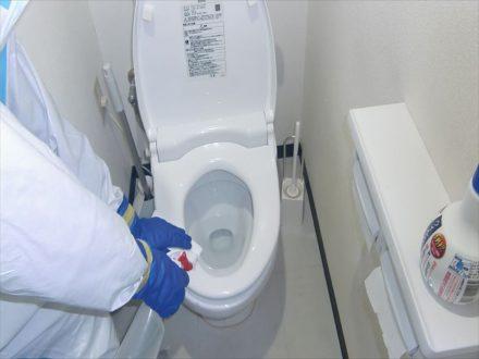 新型コロナウイルス消毒除菌 城陽市 事務所の処理前写真(3)