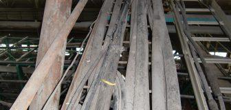 京都市・工場の上カラスの巣の撤去の事例の駆除処理後