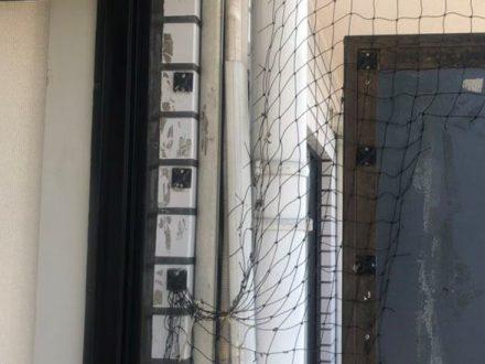 池田市・マンション(個人宅)の防鳩ネット補修の事例 の処理前写真(3)
