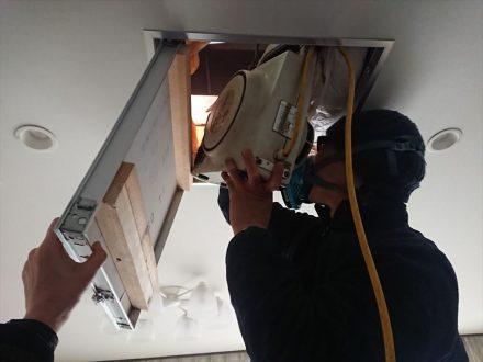 消毒作業 堺市東区 個人宅 天井裏 の処理後写真(2)