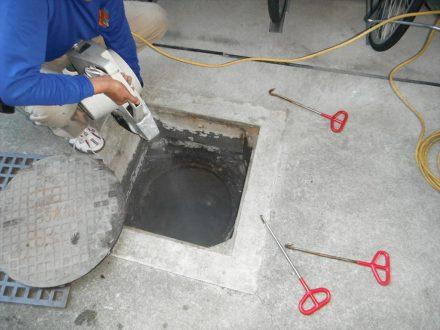 奈良市・マンションのゴキブリの定期防除の事例の処理後写真(2)