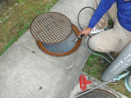 奈良市・マンションのゴキブリの定期防除の事例の処理前写真(拡大)