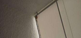 スズメバチ駆除 神戸市東灘区 店舗 テント軒下の写真
