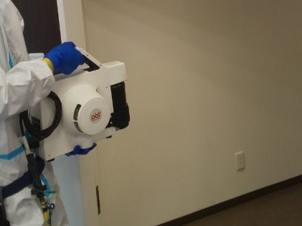 新型コロナウイルス消毒除菌 池田市 事務所の処理後写真(2)