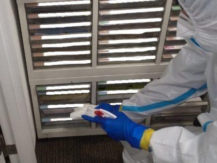 新型コロナウイルス消毒除菌 池田市 事務所の処理前写真(3)