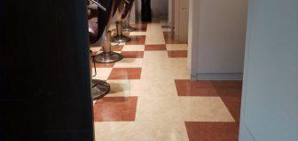 大阪市・店舗床の剥離とワックスがけ  の駆除処理後