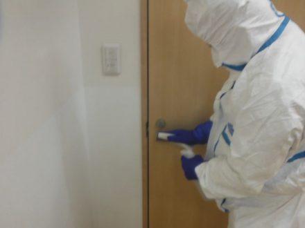 新型コロナウイルス消毒除菌 大阪市旭区 店舗の処理前写真(2)
