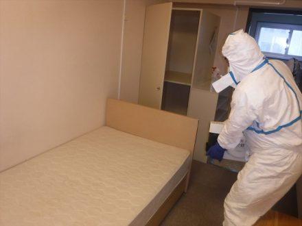 新型コロナウイルス消毒除菌 神戸市 学生寮の処理後写真(2)