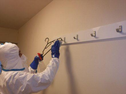 新型コロナウイルス消毒除菌 神戸市 学生寮の処理前写真(2)