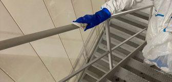 新型コロナウイルス消毒除菌 八尾市 大型商業施設バックヤードの写真