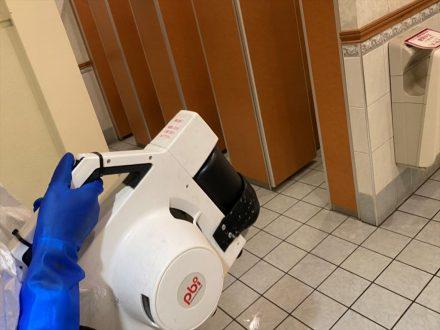 新型コロナウイルス消毒除菌 大阪市旭区 店舗の処理後写真(2)