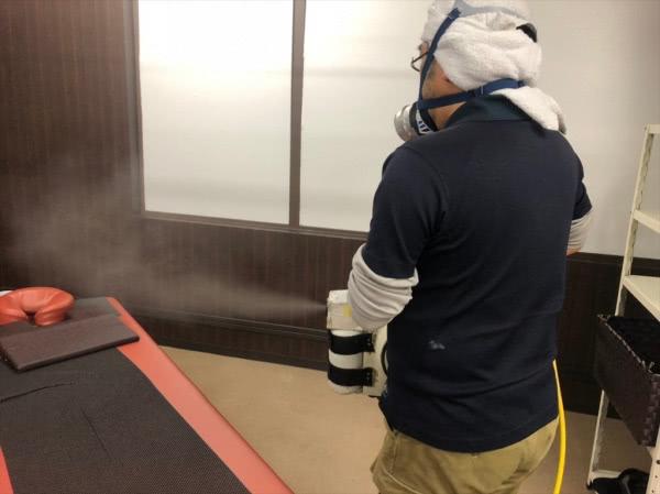疥癬(かいせん)消毒施工 京都市上京区 店舗内画像
