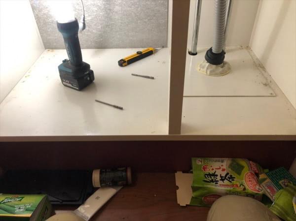 ネズミ駆除&消毒 大阪市平野区 個人宅 洗面所画像
