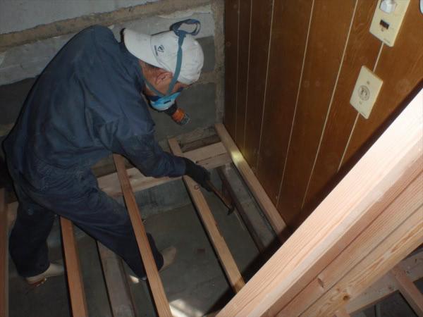 防蟻施工 泉佐野市 個人宅 中古戸建 床下画像