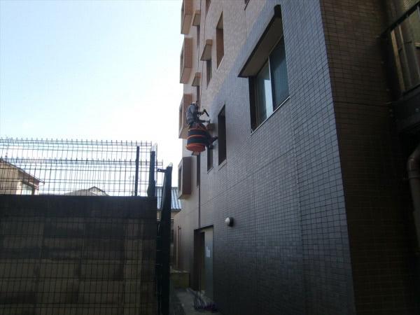 防鳩施工 神戸市西区 マンション 鳩除けスパイク設置 各部屋画像