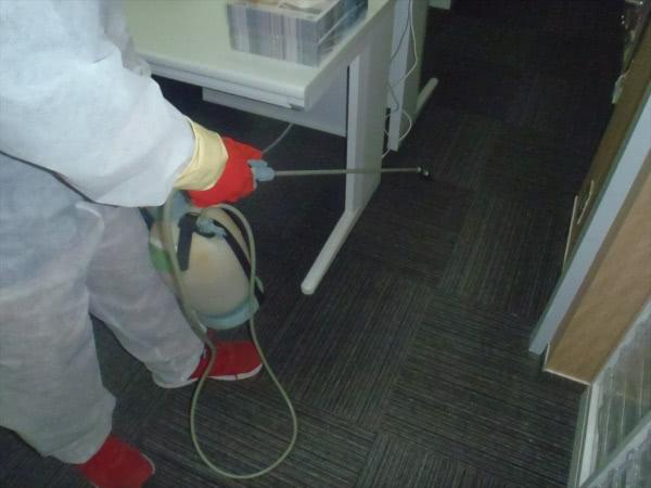 新型コロナウイルス消毒除菌 京都 某会社事業所 画像
