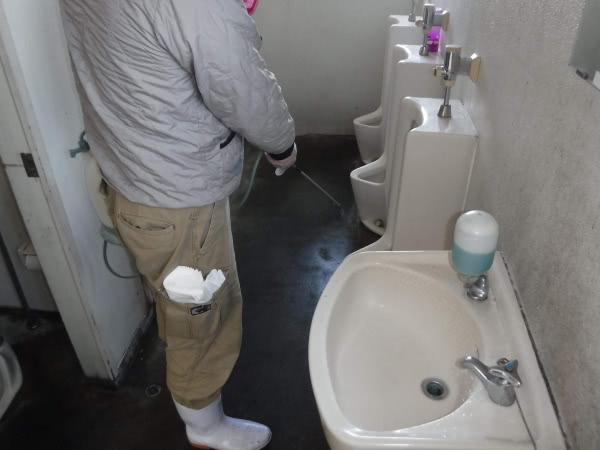 新型コロナウイルス消毒除菌施工 神戸市 会社社屋画像