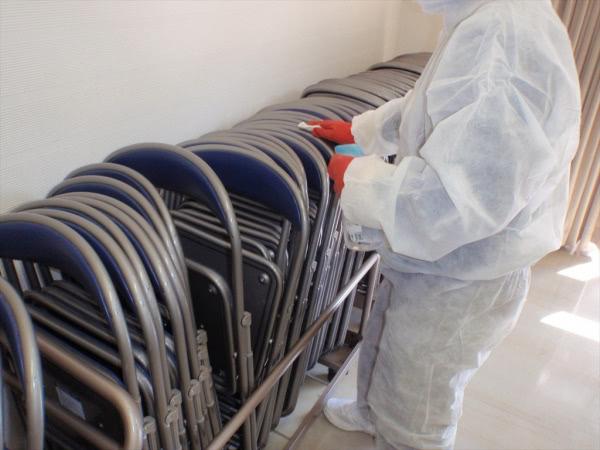 新型コロナウイルス関連消毒除菌 兵庫県 某マンション集会室画像