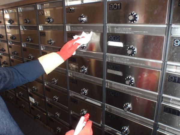 コロナウイルス関連消毒除菌 兵庫県 某マンション共用部画像