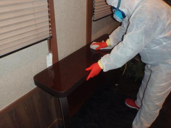 新型コロナウイルス関連消毒除菌 箕面市 某葬儀場 画像
