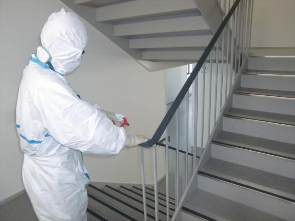 新型コロナ消毒除菌作業 東大阪市 某工場画像
