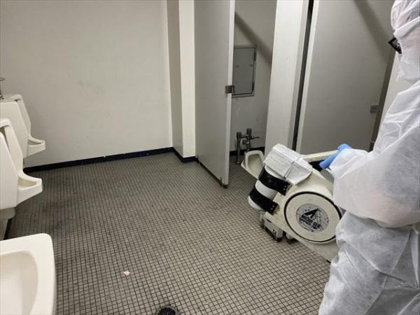 新型コロナウイルス関連消毒施工 池田市 事務所社屋画像