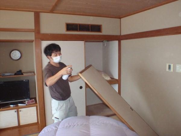 南京虫駆除 鳥取市 宿泊施設 2室画像