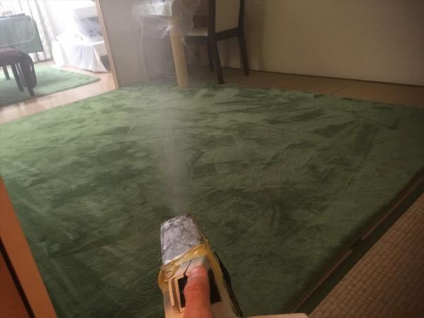 ダニ駆除 尼崎市 マンション個人宅 部屋内 空間噴霧画像