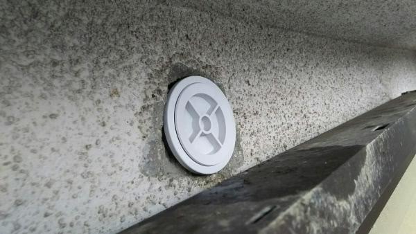 ムクドリ駆除 西宮市 個人宅 エアコンホース穴画像