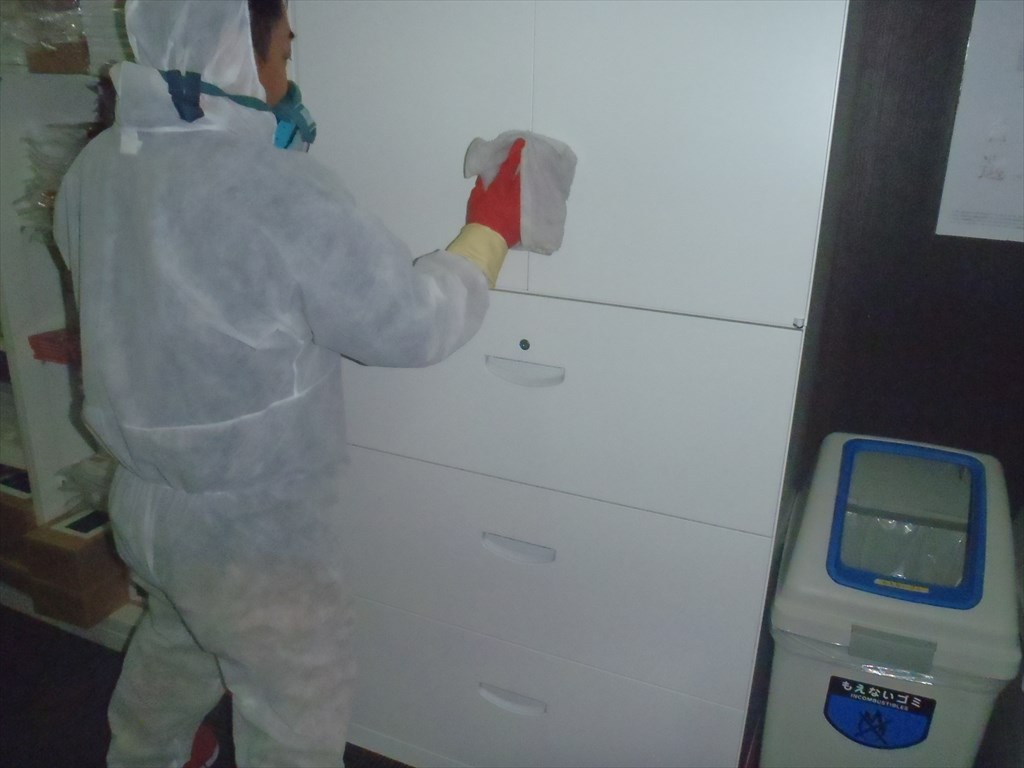 新型コロナウイルス対策消毒施工