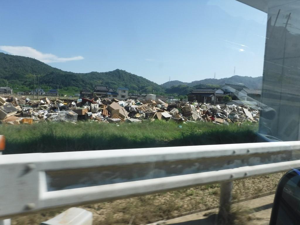 西日本豪雨後消毒支援