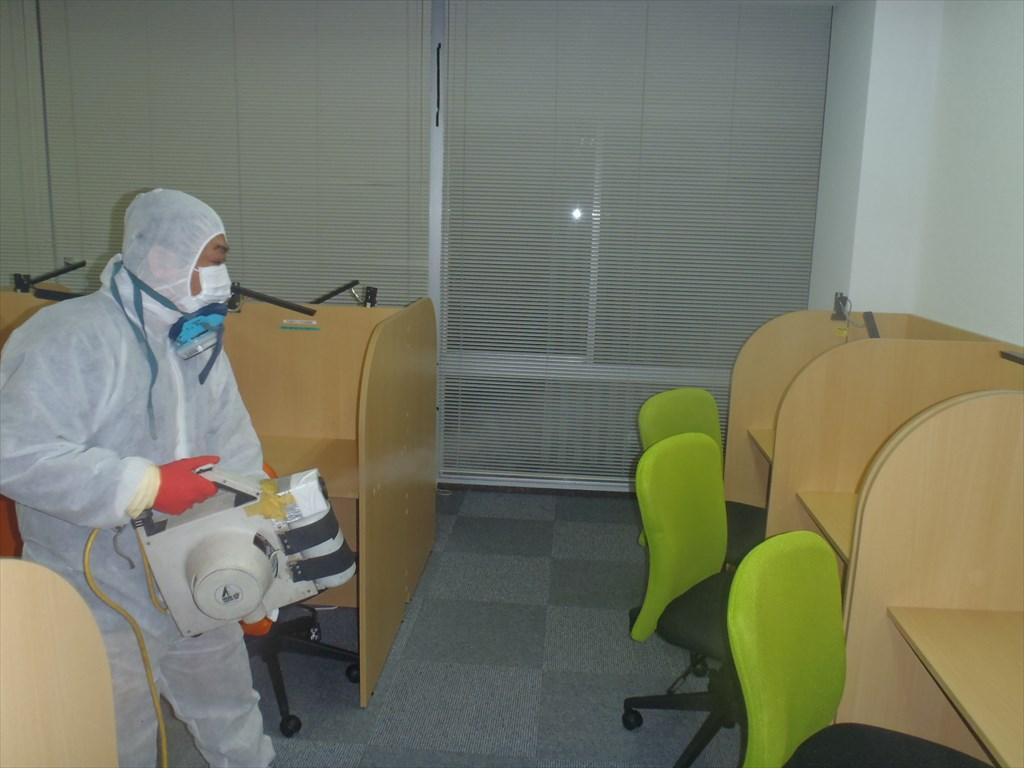 新型コロナウイルス消毒 空間噴霧